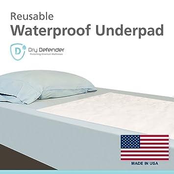 Amazon Com Dry Defender Reusable Waterproof Mattress Pad 17in X