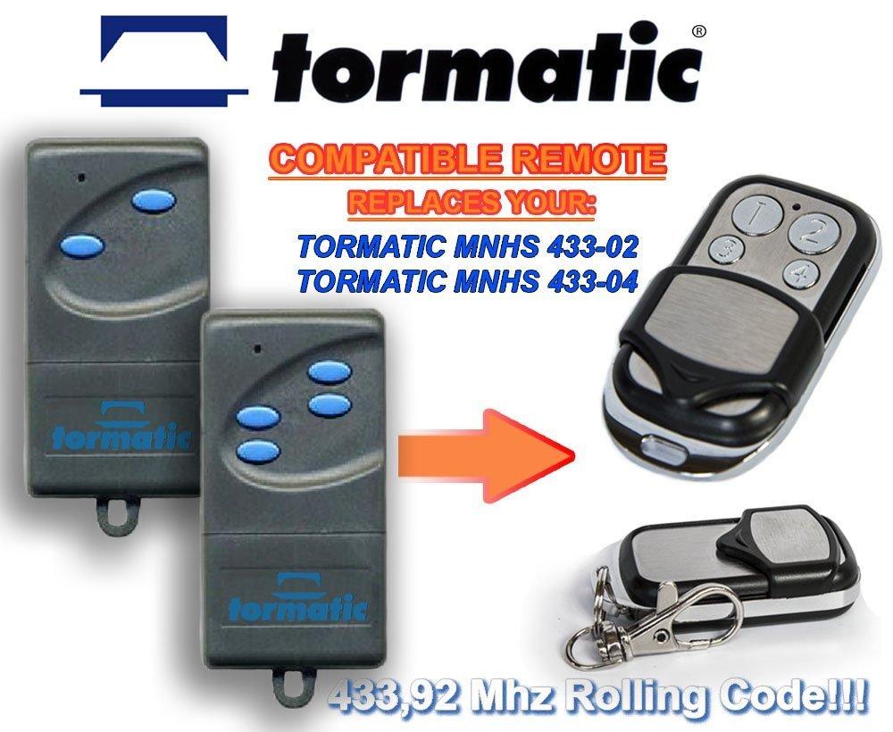 TORMATIC MNHS433-02 MNHS433-04 universal transmisor de repuesto mando a distancia 433.92Mhz rolling code keyfob