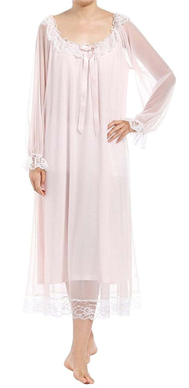 Women's Full Lace Long Dress Victorian Nightgown Nightdress Europax