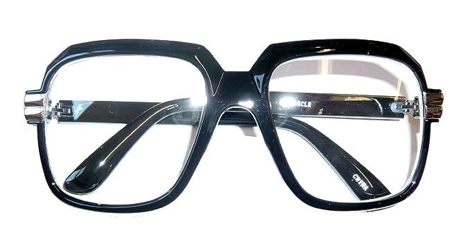 ec2c5dab16bb Amazon.com  Endless Road 4065 Black 80s Retro Hip Hop Eyeglasses Oversized Clear  Lens  Clothing