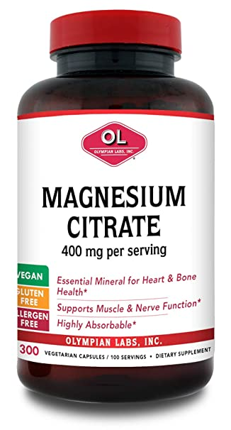 Amazon.com: Olympian Labs Citrato de magnesio Caps, 400 mg ...