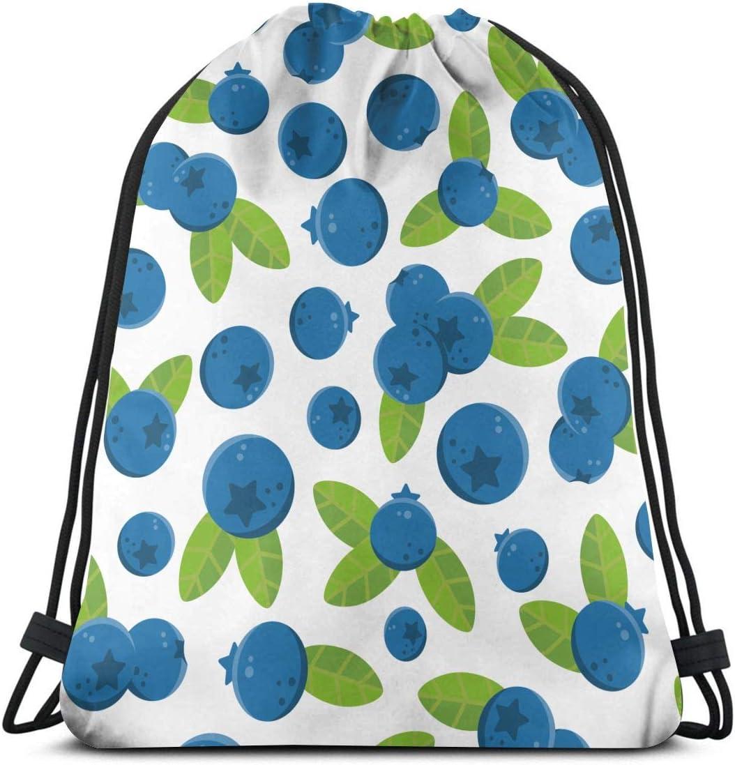Amazon Com Olgczm Blueberry Fruit Pattern Drawstring Backpack Bag Shoulder Bags Gym Bag For Adult Home Kitchen