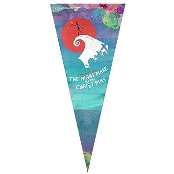 """Para colgar Horror pesadilla antes de Navidad bandera Sing capa triángulo bandera Banner Vertical 12 """""""