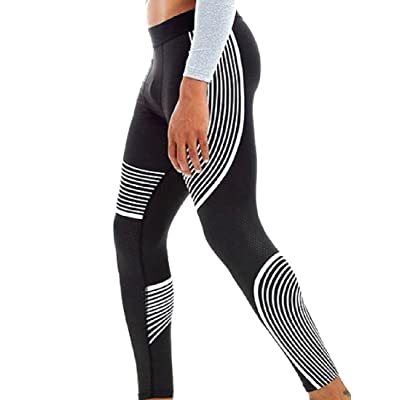 Abetteric Men Mesh-Panel Tummy Control Wicking Workout Ankle Legging