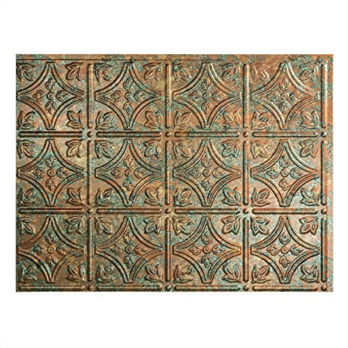 Fasade Easy Installation Traditional 1 Copper Fantasy Backsplash Panel for Kitchen and Bathrooms 18quot x 24quot Panel