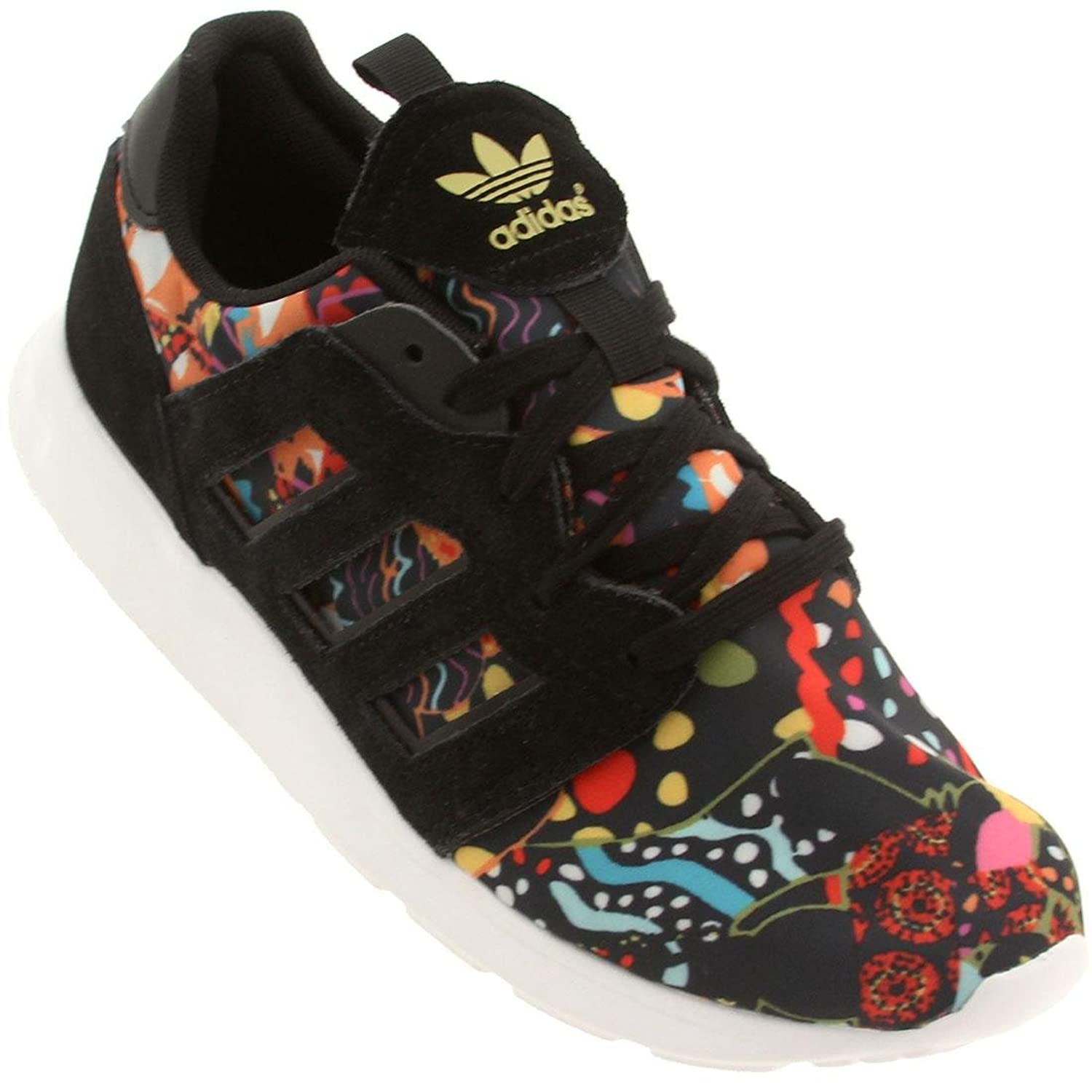 Amazon.com | Adidas Originals ZX 500 2.0 Retro Running Sneaker Shoe -  Black/Black/Gold - Womens - 7 | Running