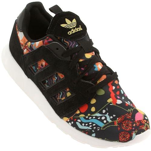 34d38a64311 adidas Originals ZX 500 2.0 Retro Running Sneaker Shoe - Black Black Gold -
