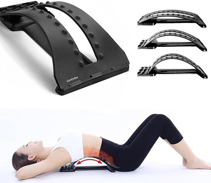 Color : A1 YOBAIH Back Stretcher Back Massager Barella Sciatia Massage Tool Magic Stretch Fitness Lombar Supporto rilassamento Spina Dorsale Sollievo del Dolore