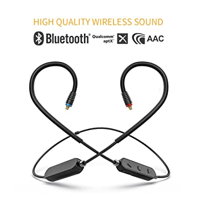 Amazon.com: FiiO RC-BT HiFi Wireless Bluetooth Lightweight Headphone/Earphone Replacement MMCX Cable with aptX/AAC/SBC Support and Mic: Cell Phones & ...