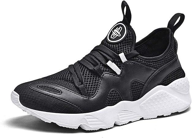 JHGK Aumentar Running Zapatos De Las Zapatillas De Deporte para Correr Gimnasia Respirable Cómodo De Moda Los Entrenadores De Atletismo Malla De Zapatos Deportivos Entrenadores,Negro,EUR43/265MM: Amazon.es: Hogar