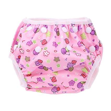 610a8609b963 Healifty Bebe bañador pañal de natar calzones entrenamiento aprendizaje  reutilizable para niños niñas