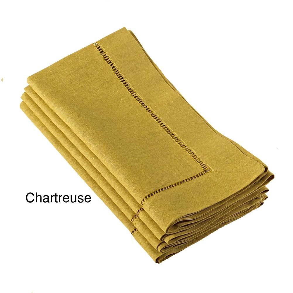 Chartreuse – ハンドメイドクラシックヘムステッチナプキン、プレースマット、ランナー、トッパー、テーブルクロス 20