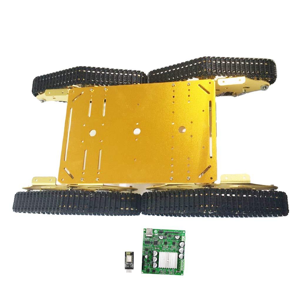 B Blesiya 4WD Telaio Serbatoio Cingolato Ammortizzatore TS900 Fai da Te per Arduino