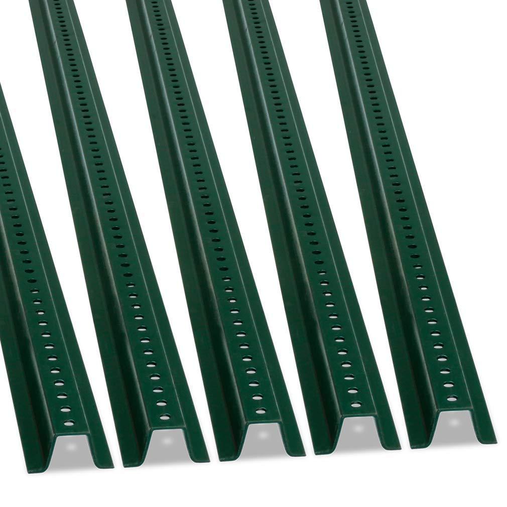 U-Channel Sign Post by SmartSign, Heavy-Duty | 6' Tall Baked Enamel Steel Post - Pack of 5
