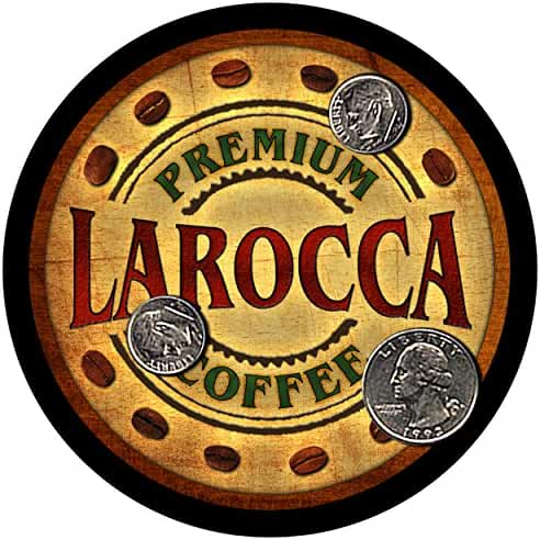 Larocca Family Coffee Rubber Drink Coasters - Set of 4