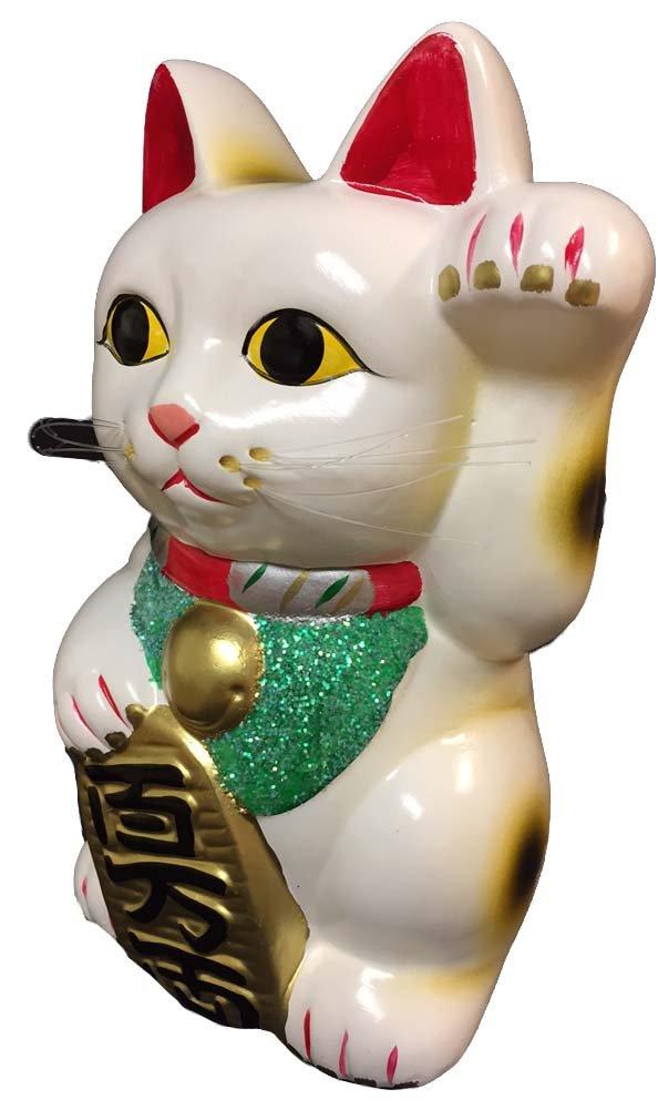 Fuji Merchandise LC95 9.5 H Lucky CAT, White