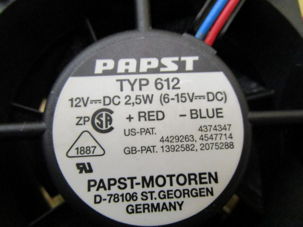 2.5W  NEW Single Fan 12V PAPST Typ 612