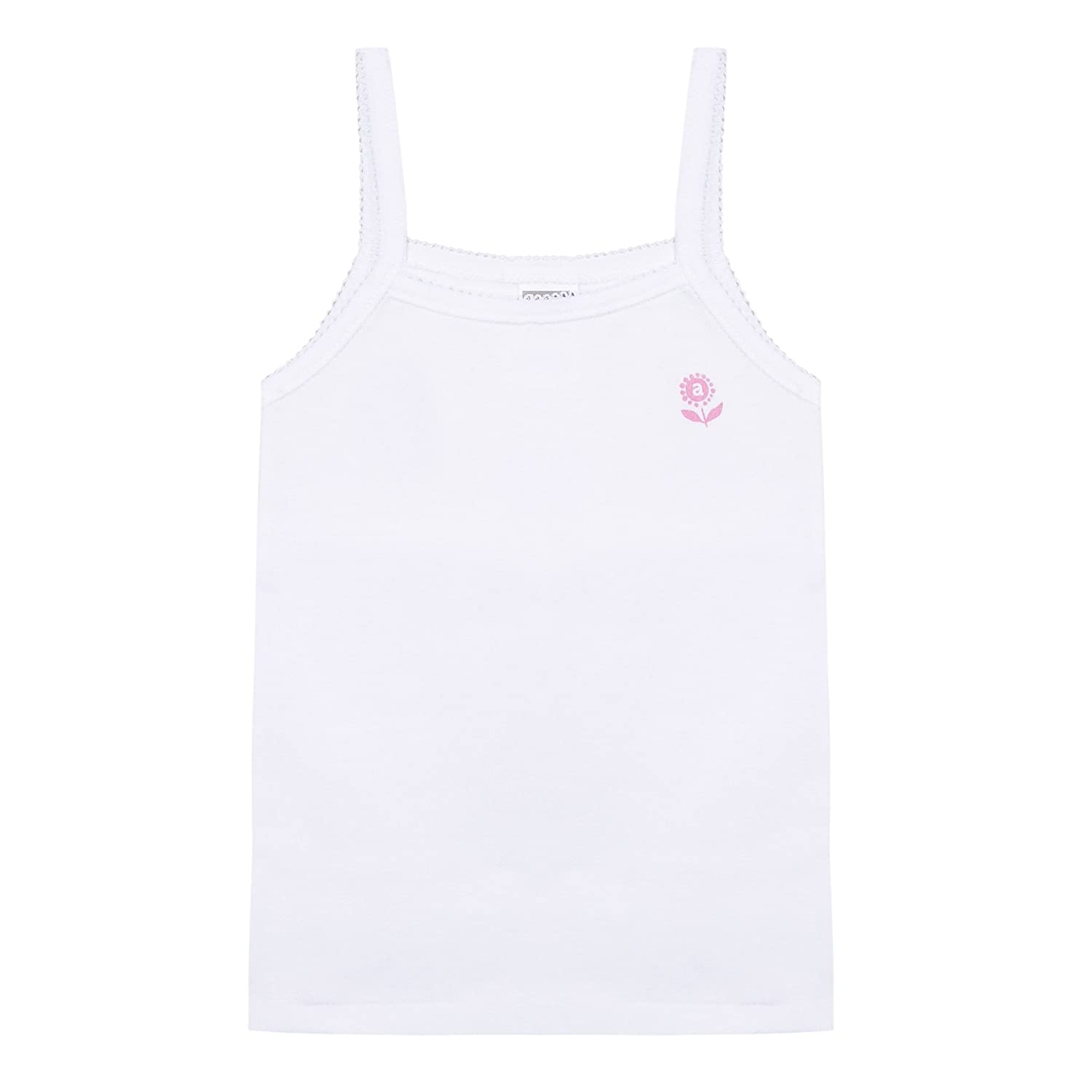 Absorba Underwear Girl's Guimpe Basic Bio Marguerite Tank Top White (Blanc 1) 9 Years 6L68003-RA
