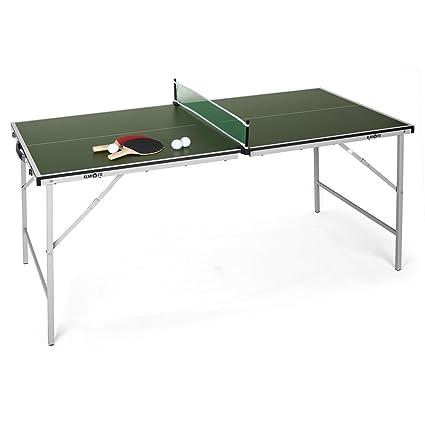 4e2a1ea591c36 Klarfit King Pong Mesa de Ping-Pong Plegable (Recubrimiento Resistente a  Golpes