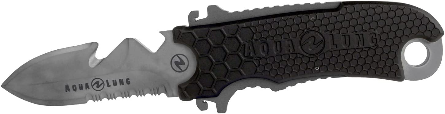 Aqua Lung Small Squeeze Knife Black : Sports & Outdoors