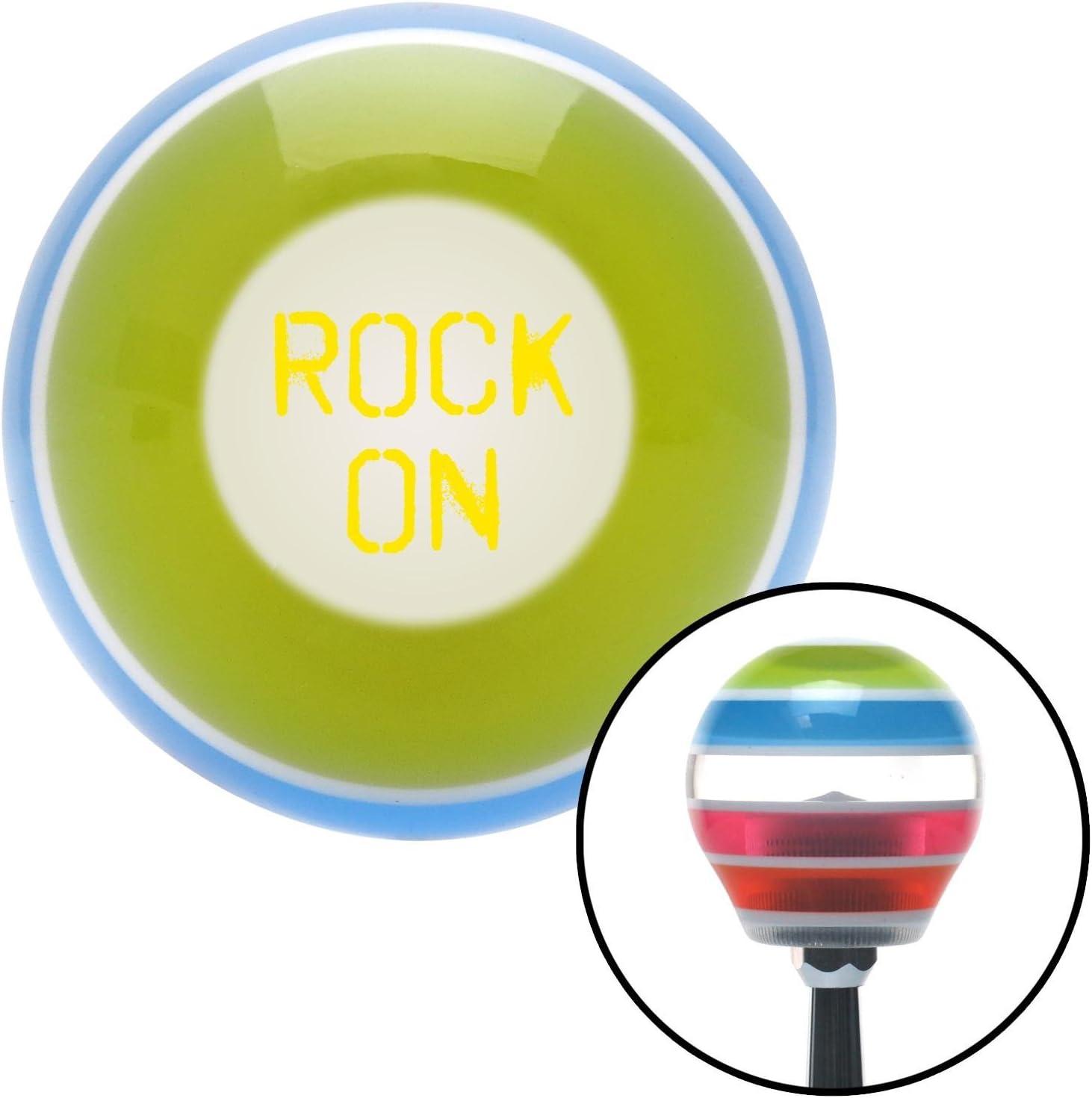 American Shifter 273479 Yellow Rock On Stripe Shift Knob with M16 x 1.5 Insert