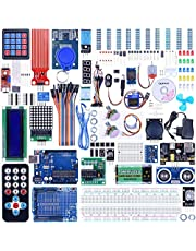 Quimat Project Super Starter Kit with Tutorial, Controller Board, LCD1602, Servo, Stepper Motor for ArduinoIDE Kit