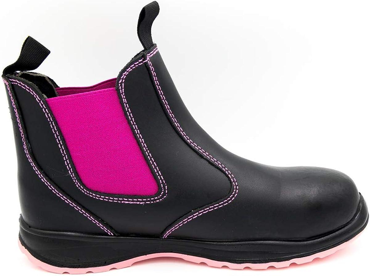 Ladies Work Boots, Chelsea Boots, Steel
