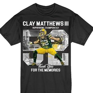 free shipping 533a9 5f8c8 Amazon.com: Green Bay Pride Clay-Matthews-III Thank You ...