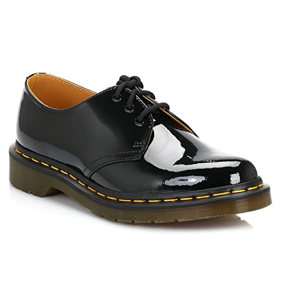 Verrassend Dr. Martens 1461 3 Eye Patent Lamper Docs Brogue Shoes Rockabilly IX-35