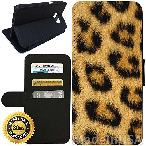 - Flip Wallet Case for Galaxy S7 (Leopard Fur) with Adjustable Stand and 3 Card Holders | Shock Protection | Lightweight | Includes Stylus Pen by Innosub
