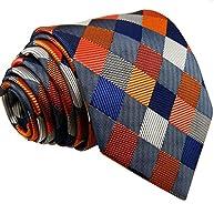 Shlax&Wing Multicolor Checks Necktie Wedding Ties For Men Silk Extra Long Size 57.5