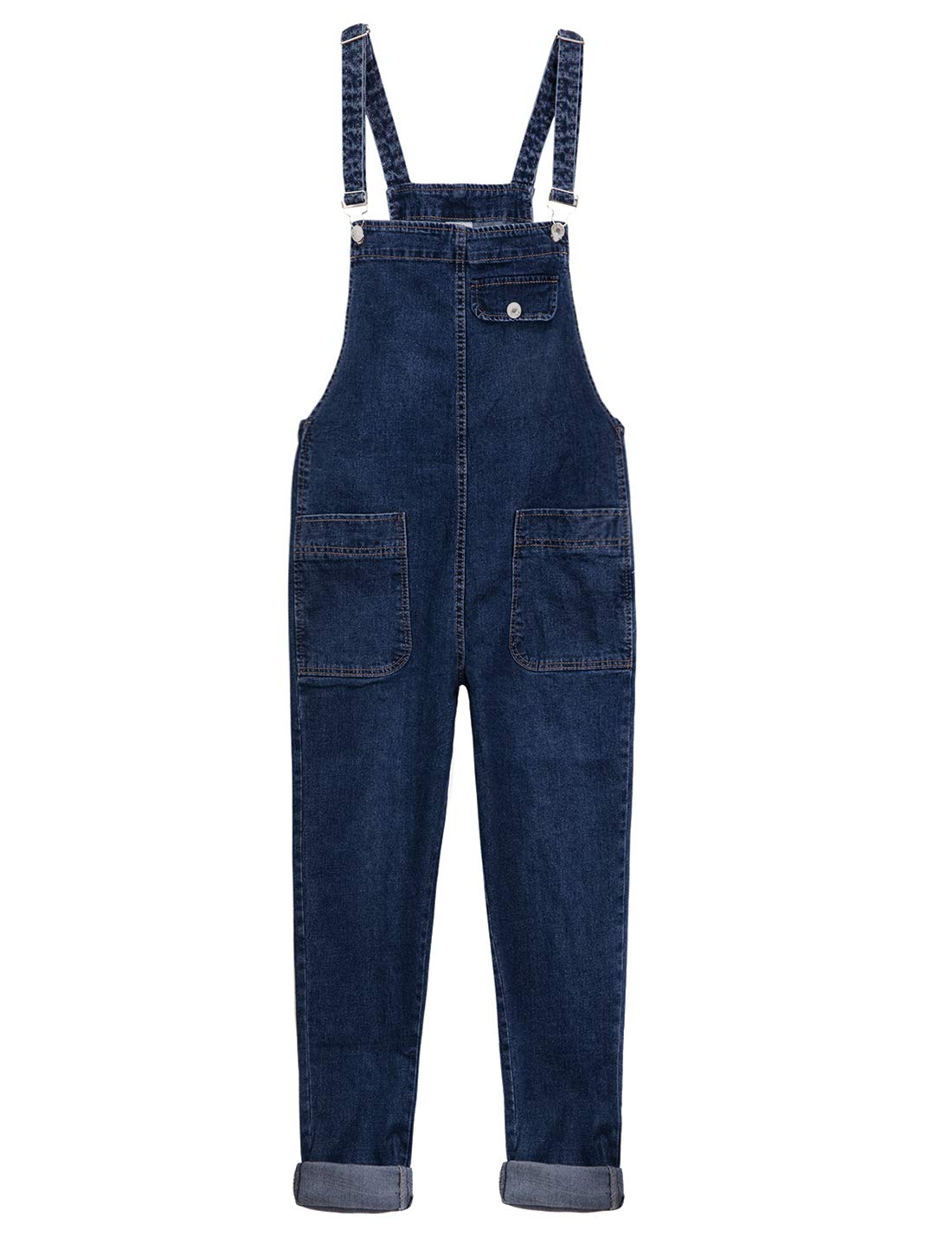 f0ed6b652bc Yeokou Women s Casual Denim Bib Cropped Overalls Pant Jeans Jumpsuits  product image