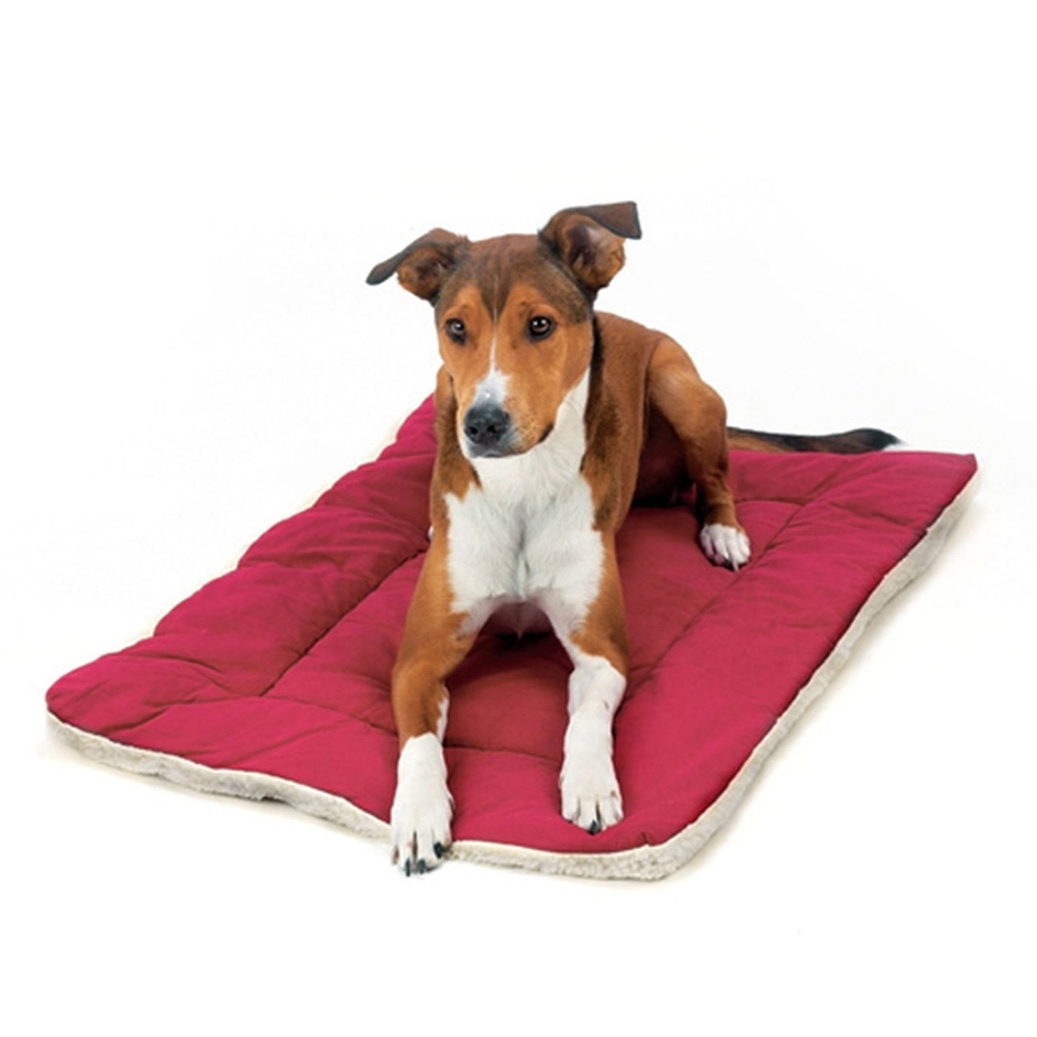 Burgundy 48-Inch Burgundy 48-Inch Pet Dreams 2 in 1 All Season Crate Bedding, XX-Large Fits Midwest 48  Crate- Burgundy Red