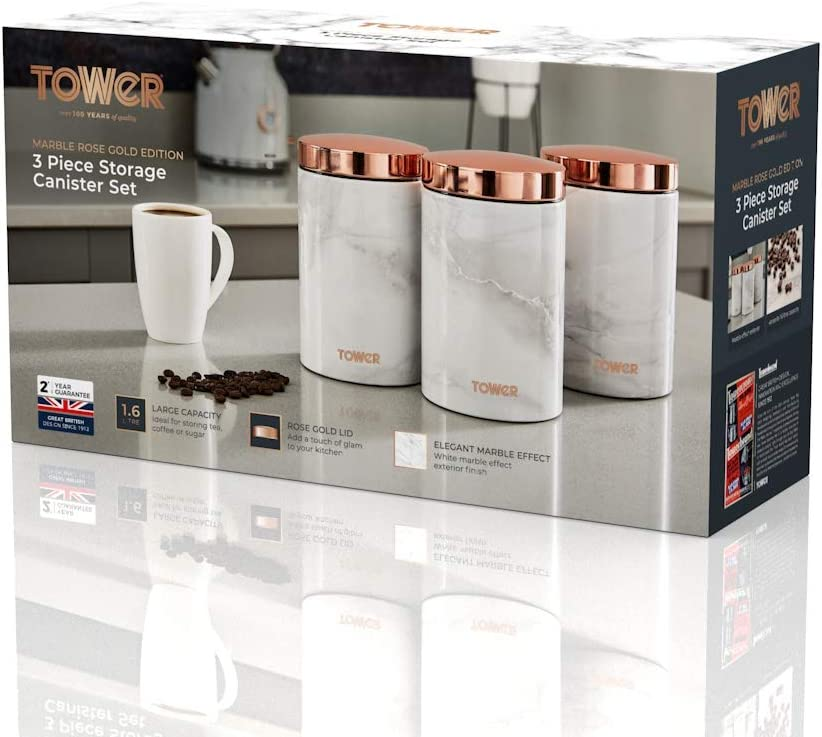 Apollo Coffee Canister Rose Gold