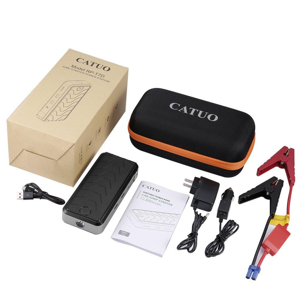 Amazon.com: Batería de arranque de coche de 12800 mAh, 12 V ...
