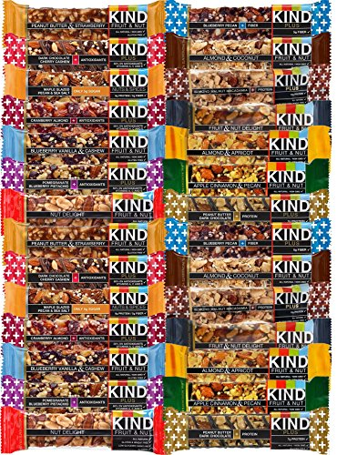 KIND Healthy Fruit & Nut & Plus Snacks Bars, (Count 28) Variety Pack of 14 Flavors with Almond, Blueberry, Peanut Butter, Dark Chocolate and other
