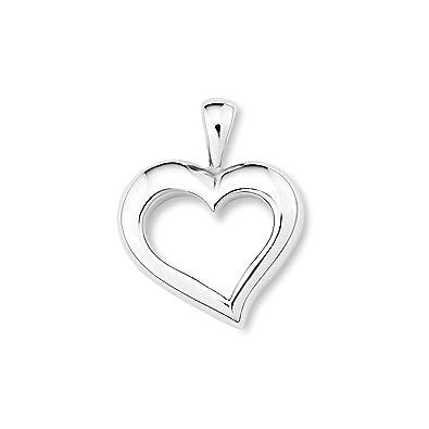 Amor Damen-Anhänger Herz 925 Sterling Silber rhodiniert 20 mm - 108034 237608250f