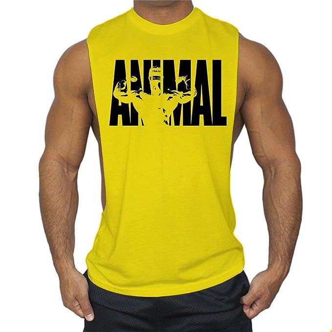 Cabeen Hombre Side Cut Camiseta Deportiva de Tirantes Tanks Running/Gym/Deporte: Amazon.es: Ropa y accesorios