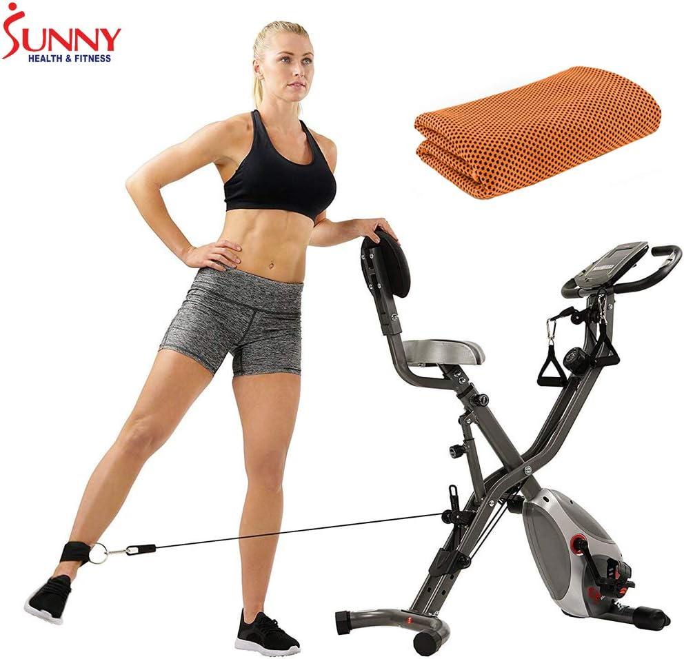 Sunny Health and Fitness Total Body Bicicleta de Ejercicio con ...
