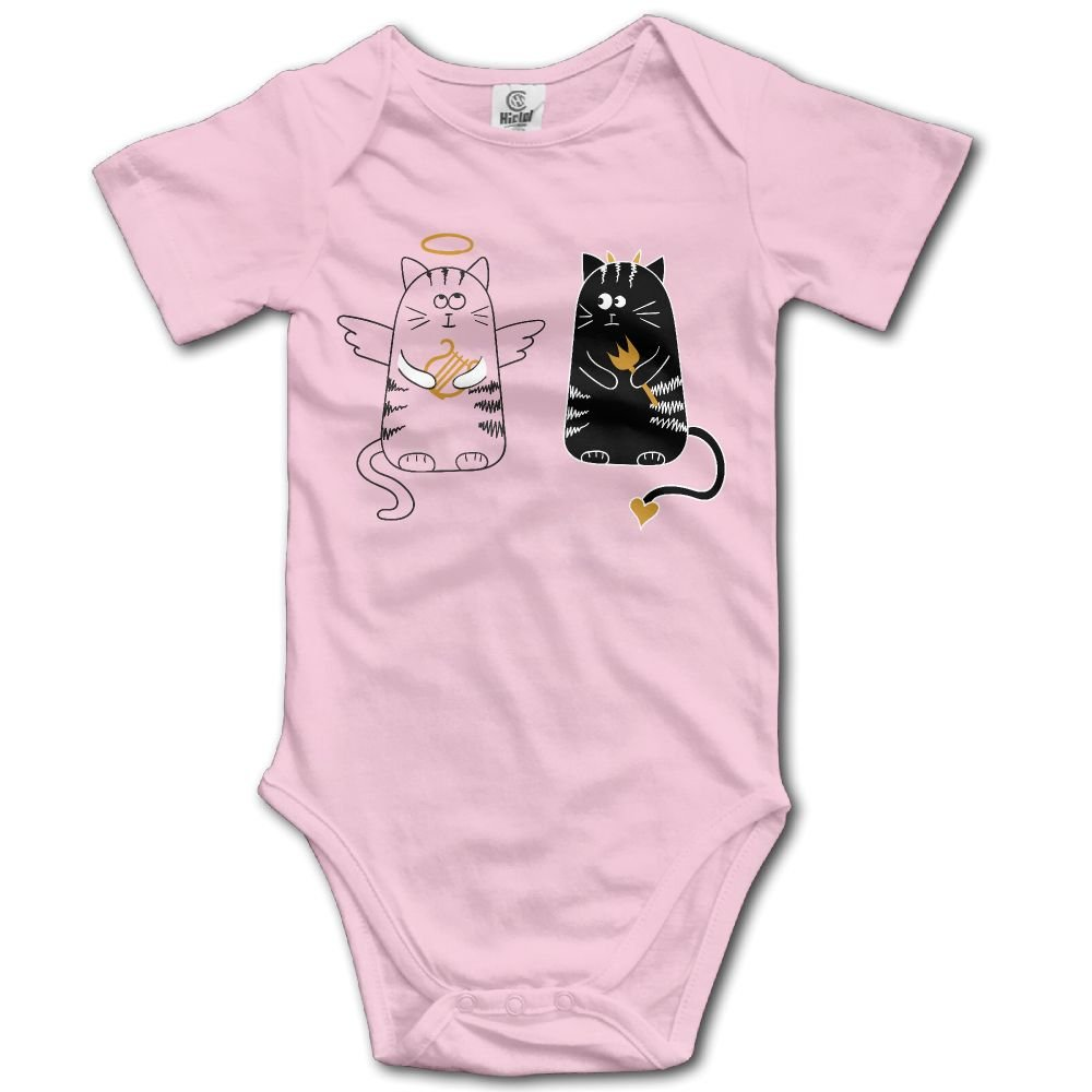 Jaylon Baby Climbing Clothes Romper Cartoon White Black Cats Infant Playsuit Bodysuit Creeper Onesies Pink