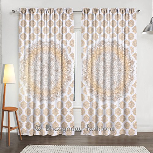 Popular Ombre Mandala Indian Tapestry Door Curtain New Wi...