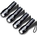 """AmeriLuck 5"""" Handheld LED Flashlight, Aluminum Made Waterroof, Super Bright Zoomable, 5 Modes for Troubleshooting…"""