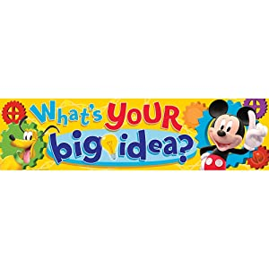 """Eureka Mickey Mouse Clubhouse Classroom Banner, What's Your Big Idea? 12 x 45"""""""