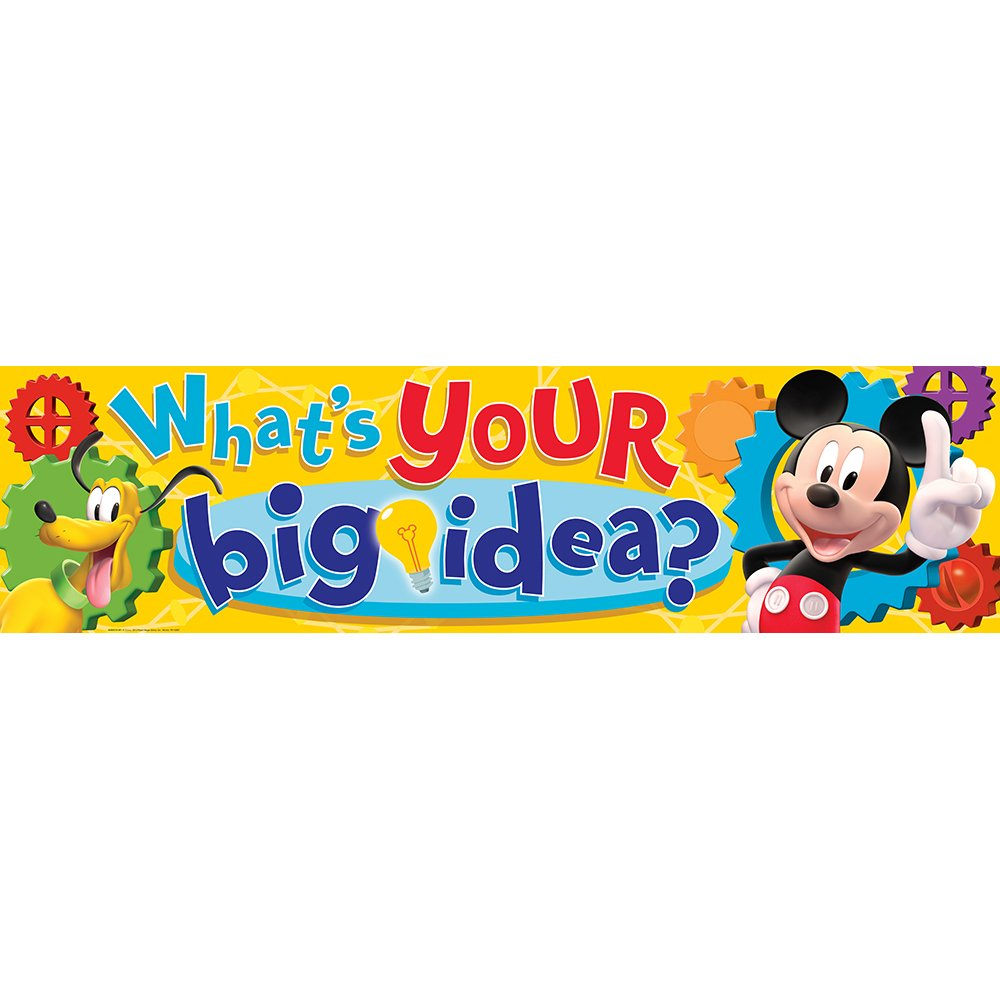 Eureka Mickey Mouse Clubhouse Classroom Banner, What's Your Big Idea? 12 x 45 by Eureka