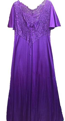 raso Splendida camicia da notte lunga o corta con top fantasia, maniche corte, le dimensioni (46-50), a poco più di 3 quartor Lunghezza 119 centimetri o 94 centimetri lungo