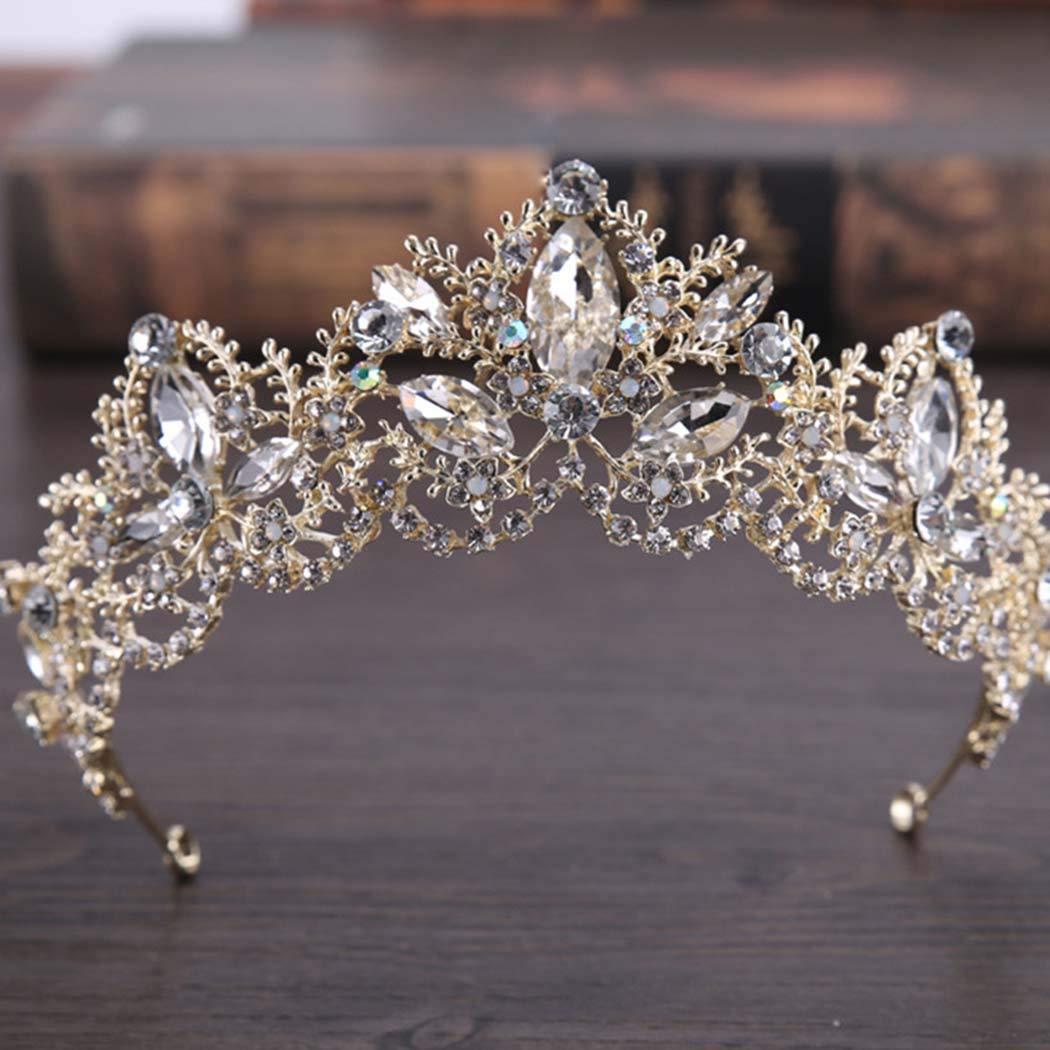 Simsly Wedding Tiara Bridal Flower Crowns for Women HG-25 (Silver 7)