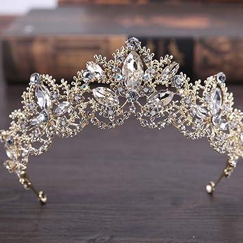 Hochzeit Schmuck Kristall Blume Krone Perle Strass Haarband Stirnband ZP