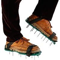 N/AA Gazon beluchter schoenen met 2 veilige verstelbare bandjes en 26 stuks spikes, tuin gras beluchter spiked sandalen…