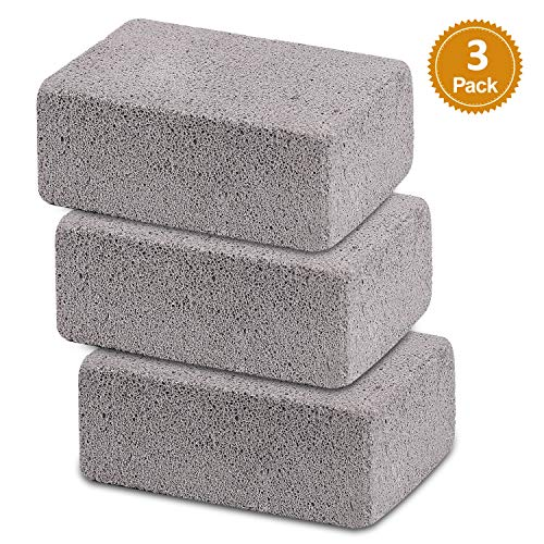 (Ajmyonsp 3Pack Grill Cleaning Brick Block Brick-A Magic Stone Pumice Griddle Grilling Cleaner Accessories for BBQ Grills, Racks, Flat Top Cookers)
