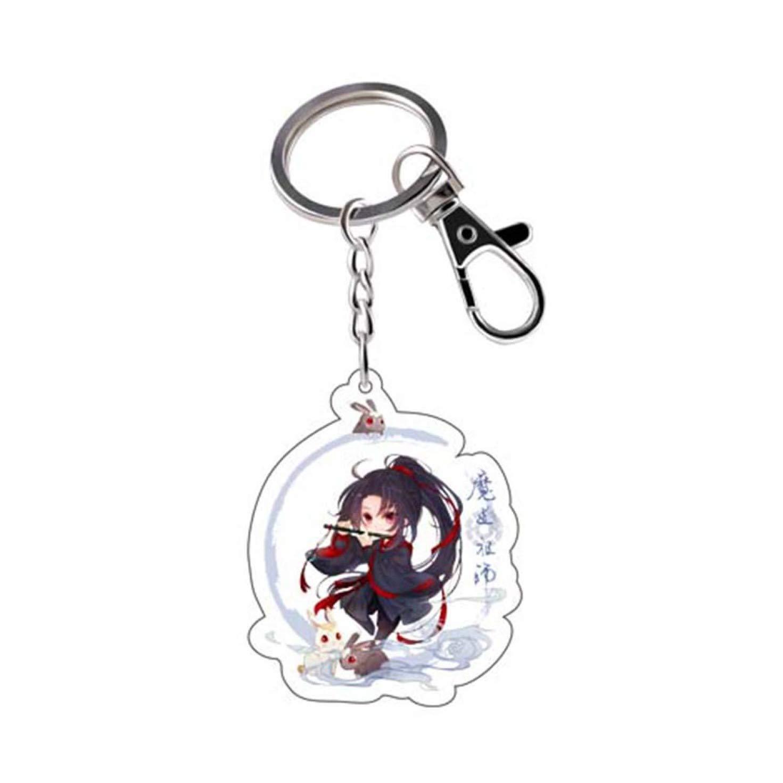 huamaojiancai zuverl/ässige Anime Mo Dao Zu Shi Keychain Cartoon Figur Wei Wuxian LAN Zhan Double Sided Acryl Key Ring Cosplay Anh/änger